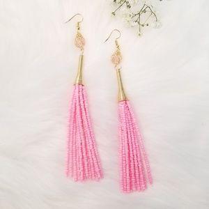 Jewelry - Pink Tassel Earrings